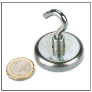Sintered Neodymium Hook Magnet Ø42 mm