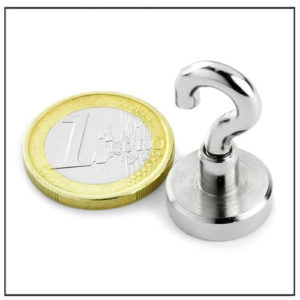 Sintered Neodymium Hook Magnets Ø16mm
