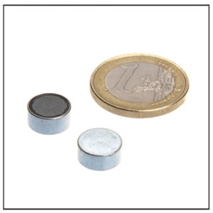 Small Flat Ferrite Pot Magnet Ø10mm