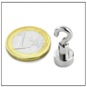 Small NdFeB Hook Magnet Ø10 mm