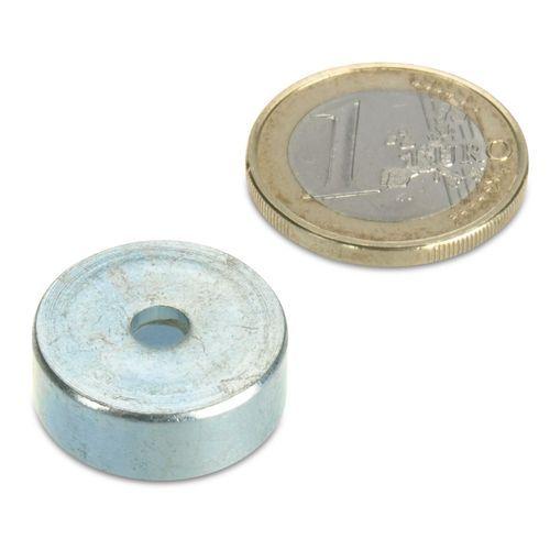Ø20mm Countersunk Ceramic Pot Magnet