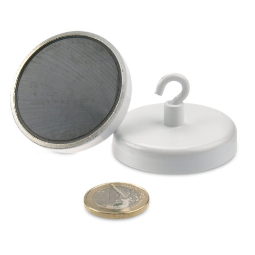 Big Hard Sintered Ceramic Hook Magnet