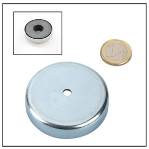 Ceramic Pot Magnets w Cylindrical Hole