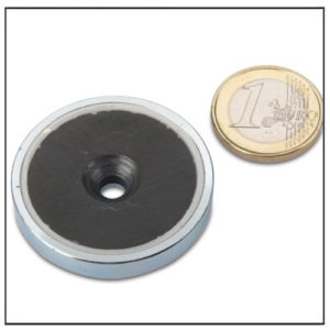 Countersunk Ceramic Round Base Magnet Ø 40 x 8 mm
