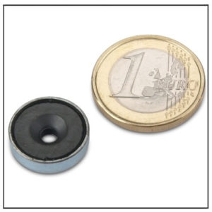 Countersunk Ferrite Pot Magnet Ø16mm