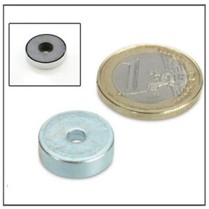 Cylindrical Borehole Ceramic Pot Magnet 16mm