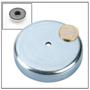 Cylindrical Borehole Ferrite Mounting Magnet