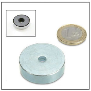 Cylindrical Borehole Ferrite Pot Magnets Ø36mm