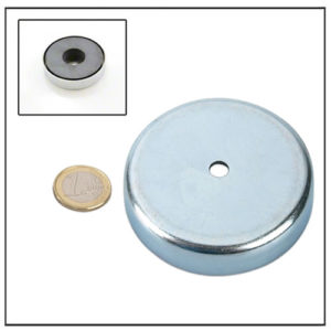 Cylindrical Hole Round Base Ceramic Magnet