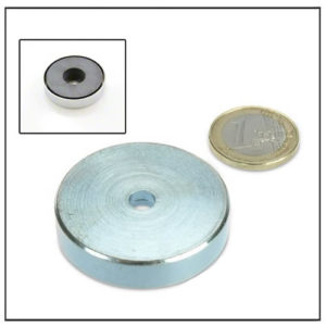 Ferrite Holding Pot Magnet with Borehole