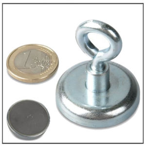 Hard Ferrite Eyebolt Cup Magnet