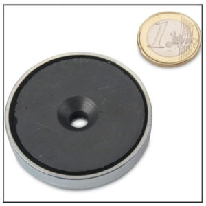 Hard Sintered Ceramic Countersunk Cup Magnet Ø 50 x 10 mm
