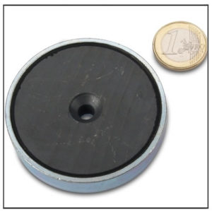 Sintered Ferrite Countersunk Cup Magnet Ø63mm