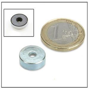 Small Cylindrical Borehole Ferrite Pot Magnet 13mm