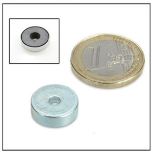 Small Cylindrical Hole Ferrite Pot Magnet