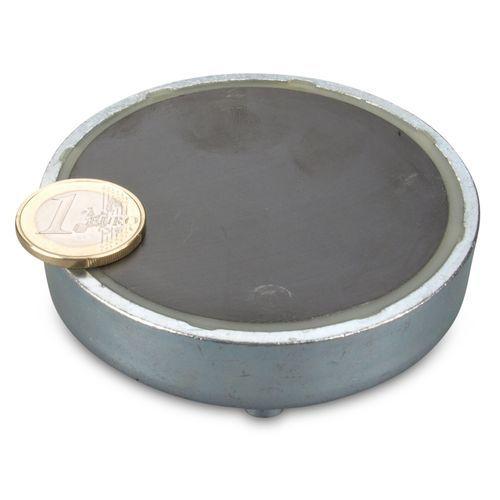 100mm Dia Threaded Bushing Ferrite Pot Magnet