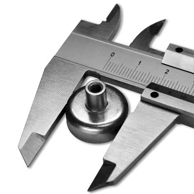 20mm Dia Internal Threaded Bushing Ceramic Pot Magnet