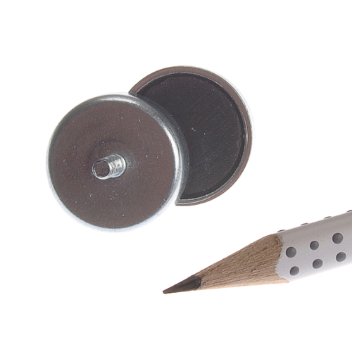 20mm External Male Threaded Stud Ceramic Pot Magnet