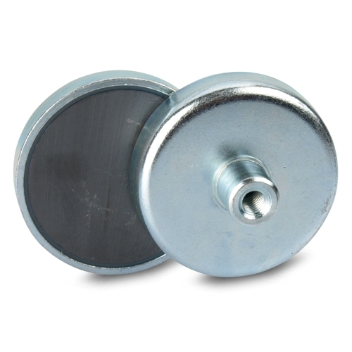 50mm Ceramic Holding Magnets with Threaded Bushing