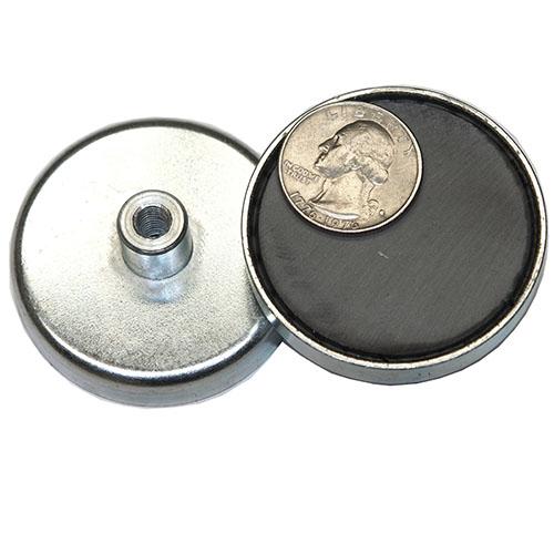 80mm Hard Sintered Ferrite Mounting Pot Magnets