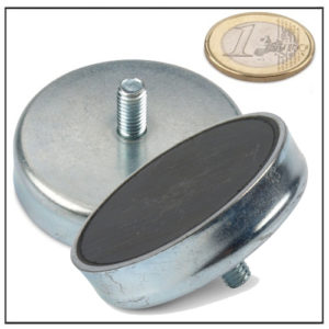 External Screw Thread Ferrite Pot Magnet Ø 63mm
