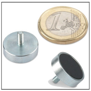 Ferrite Pot Magnet with External Threaded Mounting Ø 16mm