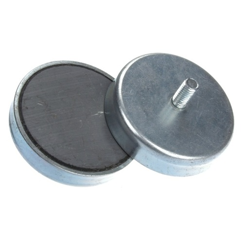 Hard Sintered Ceramic Pot Magnet with External Thread