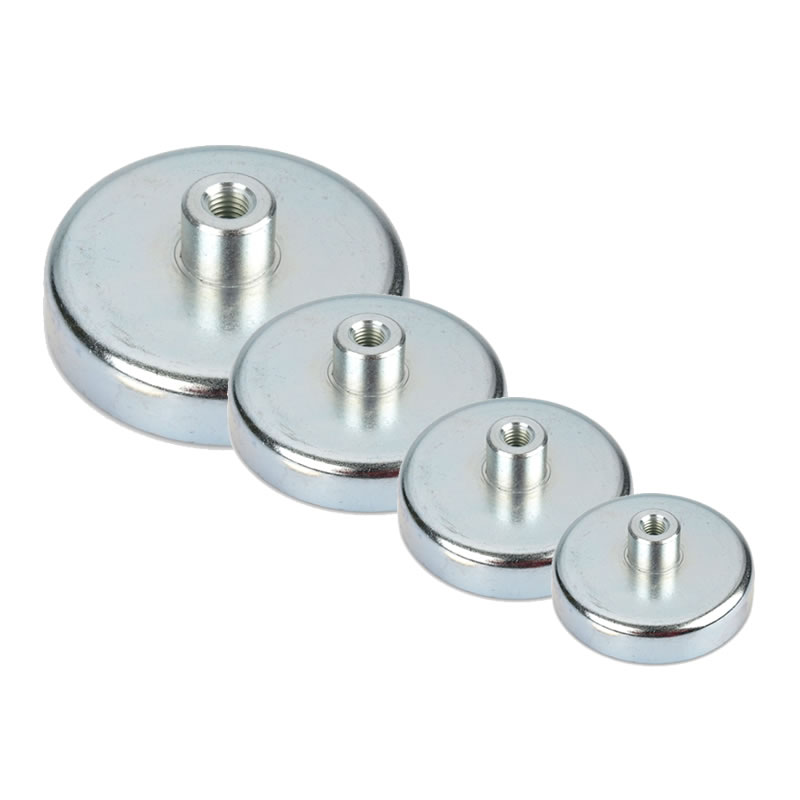 Hard Sintered Ferrite Mounting Pot Magnets