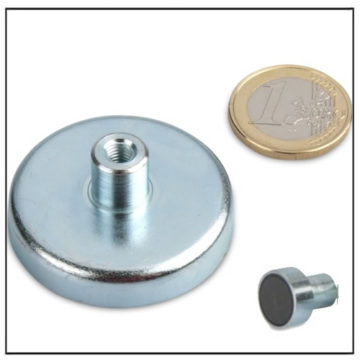 Internal Threaded Ceramic Cup Magnet Ø 50mm
