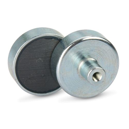 Pot Threaded Bushing Ferrite Magnet
