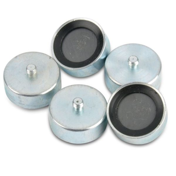 Rubber Adhesive Threaded Pin Ferrite Pot Magnets