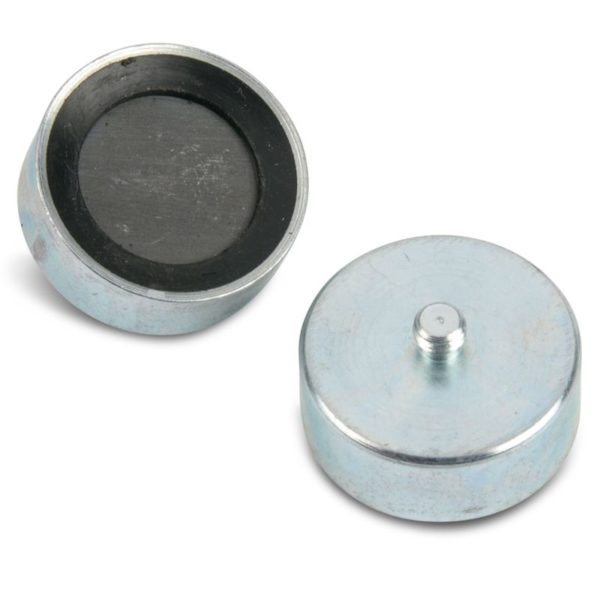 Rubber Ceramic Pot Magnet with Male Thread