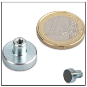 Threaded Bushing Ceramic Pot Magnet Ø16mm