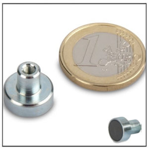 Threaded Bushing Ferrite Pot Magnet Ø13mm