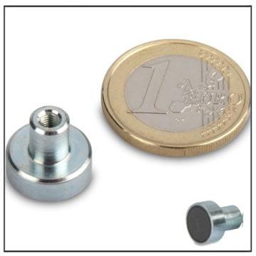 Threaded Bushing Ferrite Pot Magnet Ø13mm