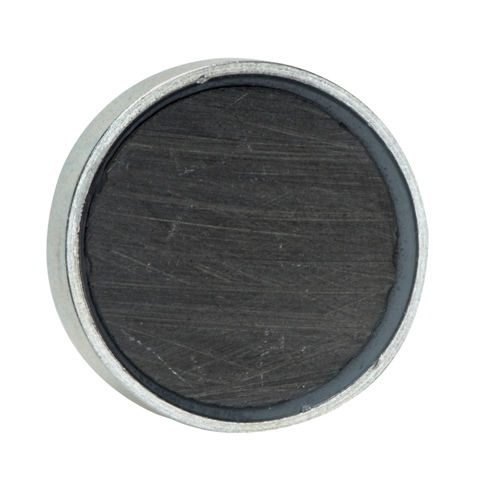 hard sintered ferrite permanent magnet with internal threaded busing