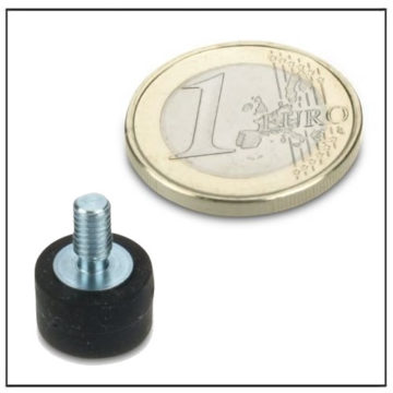 Rubber Coated External Screw Thread Magnet