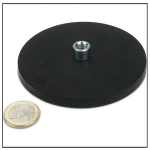 Rubber Coated Screwed Bush Magnetic Pot M8 Ø 88mm