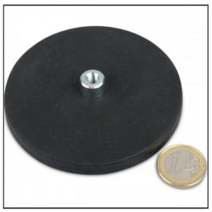 Rubber Coated Threaded Bushing Cup Magnet Ø108mm