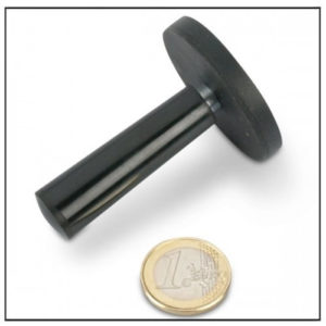 Rubber Covered Magnetic System with Handle Ø 43mm