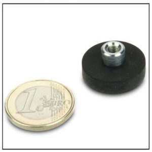 Rubber Covered Threaded Bushing Pot Magnets Ø22mm