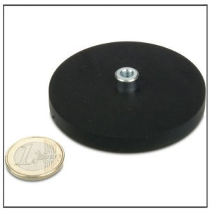 Rubber Magnetic Pot System w M5 Bushing Ø 66mm