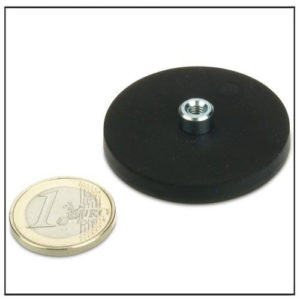 Rubber Pot Magnet System Gummed with Bushing Ø 43mm