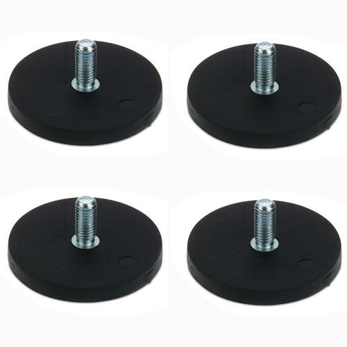 Rubber Sintered NdFeB Threaded Pot Magnet