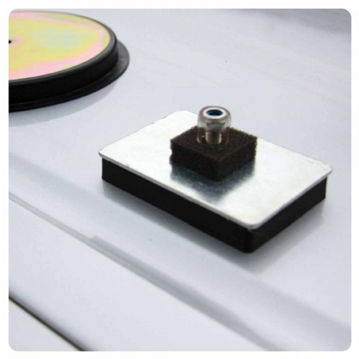 Threaded Stud Rubber Coated Magnetic Pad
