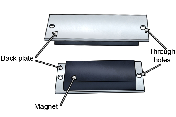through-hole-rubber-coated-magnetic-mounting-pad