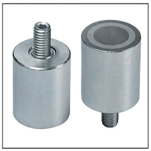 Alnico Deep Pot Magnet with Male Thread
