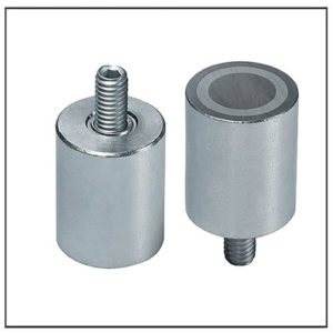 Male Thread Deep Cylindrical Alnico Magnet