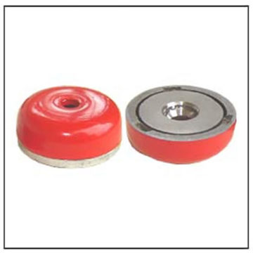 Red Painted AlNiCo Shallow Pot Magnet