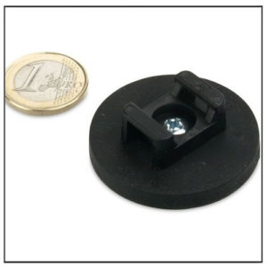 Rubber Coated Magnet for Cable Mounting